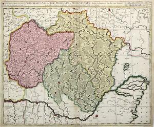Cartina Romania Transilvania.Romania Transilvania Originale Incisione Cartina Geografica Valk 1700 Ebay