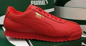 Details about PUMA Roma Basic Wrap Men's Running Sneakers Red/Gold Leather  371864 01 S