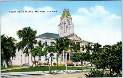 KEY WEST, Florida FL MONROE COUNTY COURT HOUSE c1940s Linen