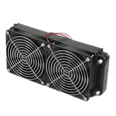 For CPU Heatsink Aluminum Computer Radiator Water Cooling Cooler 240mm 2 Fans
