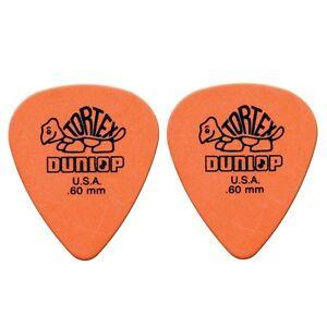 Dunlop-4181-R-60-Plettri-per-chitarra-serie-Tortex-0-60mm-2-Pezzi