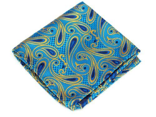 Lord R Colton Masterworks Pocket Square $75 Retail New Capilla Ice Blue Silk