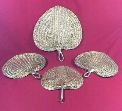Decor Hand Fan Straw Hand-woven Wedding Souvenir Handheld Bamboo Dance Gift QP