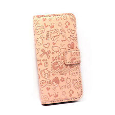 iPhone 4 Lovely Magic Girl Flip Case - Tan