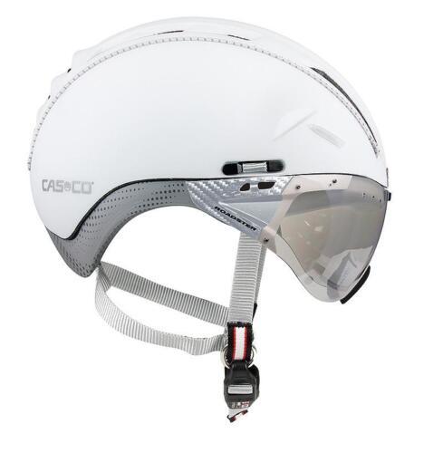 Casco-roadster avec visière-Couleur Blanc-Argent-Taille L 58-60 cm
