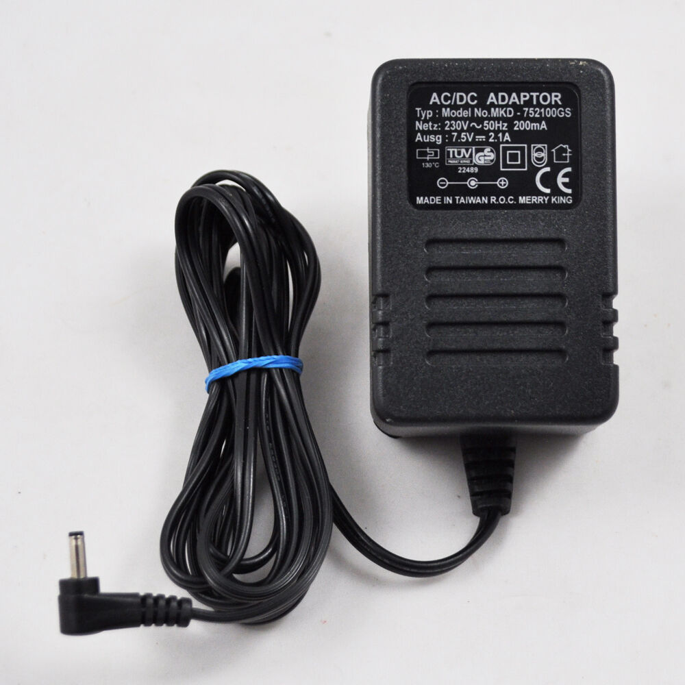 AC/Dc Adapter Merry King MKD-752100GS/7.5V 2.1A Power Supply Adapter