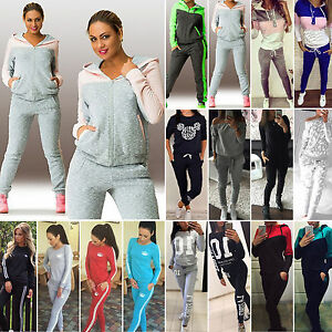 2Pcs-Women-Tracksuit-Sweatshirt-Track-Pants-Casual-Jogging-Sportswear-Sweat-Suit