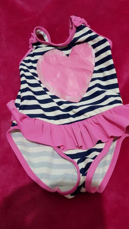 0-24 meses de edad niñas BNWT F/&F Verano Chaleco//Traje Zebra Print Rosa.