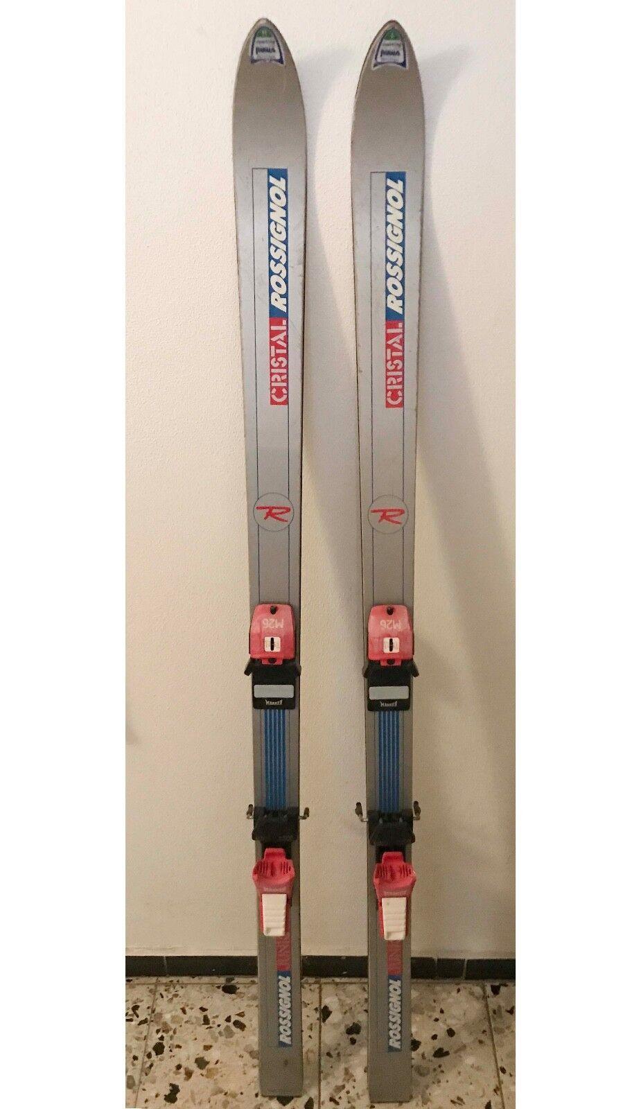 Rossignol Cristal Ski Ski Cristal Skier mit Marker Bindung Vintage Sammler 3615fc