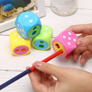 Plastic-Dice-Pencil-Sharpener-Cutter-Stationery-Kids-School-Office-Handy-HotADD