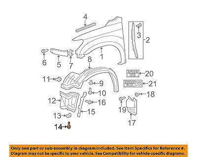 Toyota OEM Fender Liner Splash Shield Cover Panel Screw 90467-05138 One Only