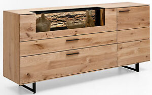 hartmann runa sideboard massiv kerneiche mit vitrine massivholzm bel kommode ebay. Black Bedroom Furniture Sets. Home Design Ideas