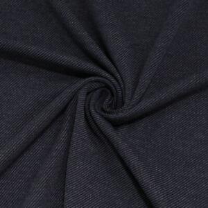 Blau-grauer-Baumwoll-Jersey-Elastischer-Samt-Weicher-Winter-Stoff-als-Meterware