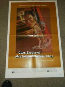 """ANY WHICH WAY YOU CAN(1980)CLINT WASTWOOD ORIGINAL ONE SHEET POSTER 27""""BY41"""""""