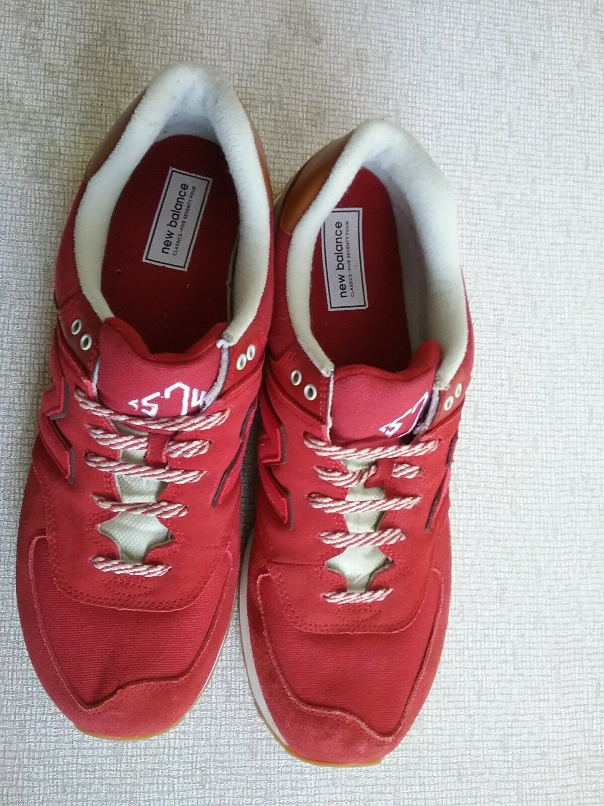 Men's New Balance Sneakers 574 US Size Size 13 Medium Red