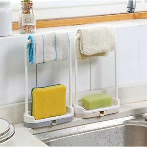 Kitchen-Storage-Rack-Holder-Sink-Drainer-Bathroom-Shelf-Soap-Sponge-Organizer-US