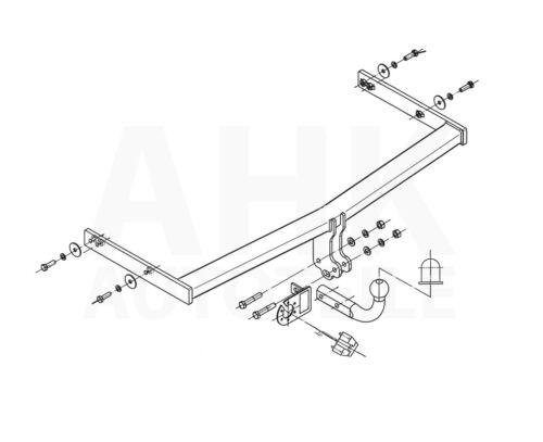 Kpl AHK Seat Altea 04-15 Anhängerkupplung starr+ES 13p uni
