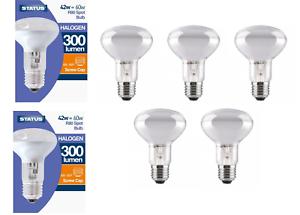 5 //10 STATUS Eco Halogen R80 Screw In ES Spot Light Bulbs Dimmable 42w=60w
