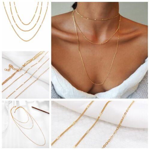 Creative Minimalist Multi-layer Three-layer Necklace Gold Thin Chain Jewelry