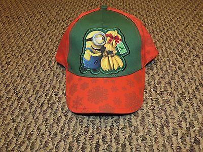 Boy's Despicable Me Minion Bananas To Carl Christmas Snapback Baseball Hat Cap