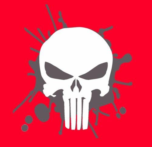 Punisher Decal White Skull Punisher Sticker