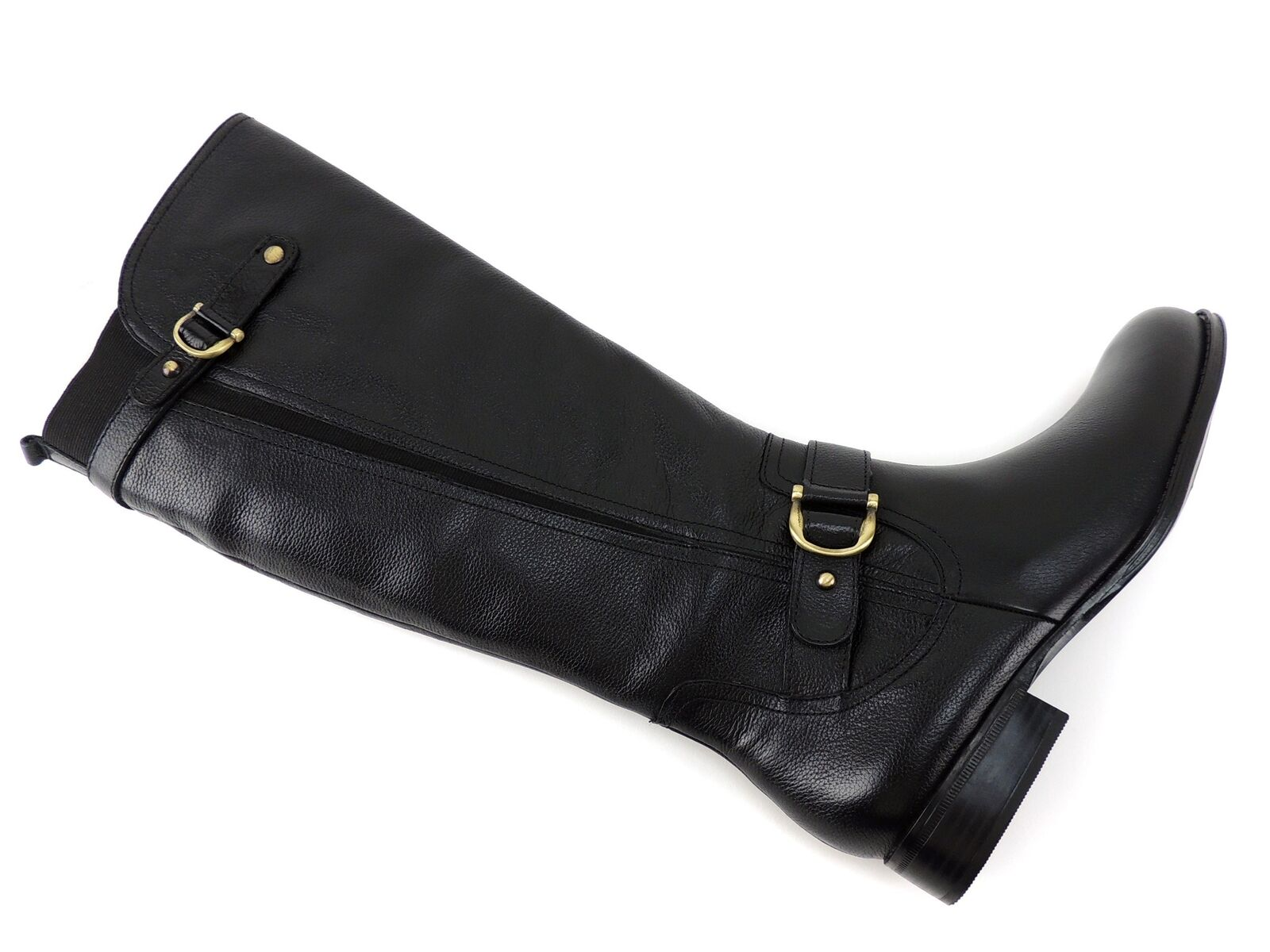 Naturalizer Jersey Mujer la rodilla rodilla rodilla botas altas de cuero negro Tamaño 9.5 M a1b98a