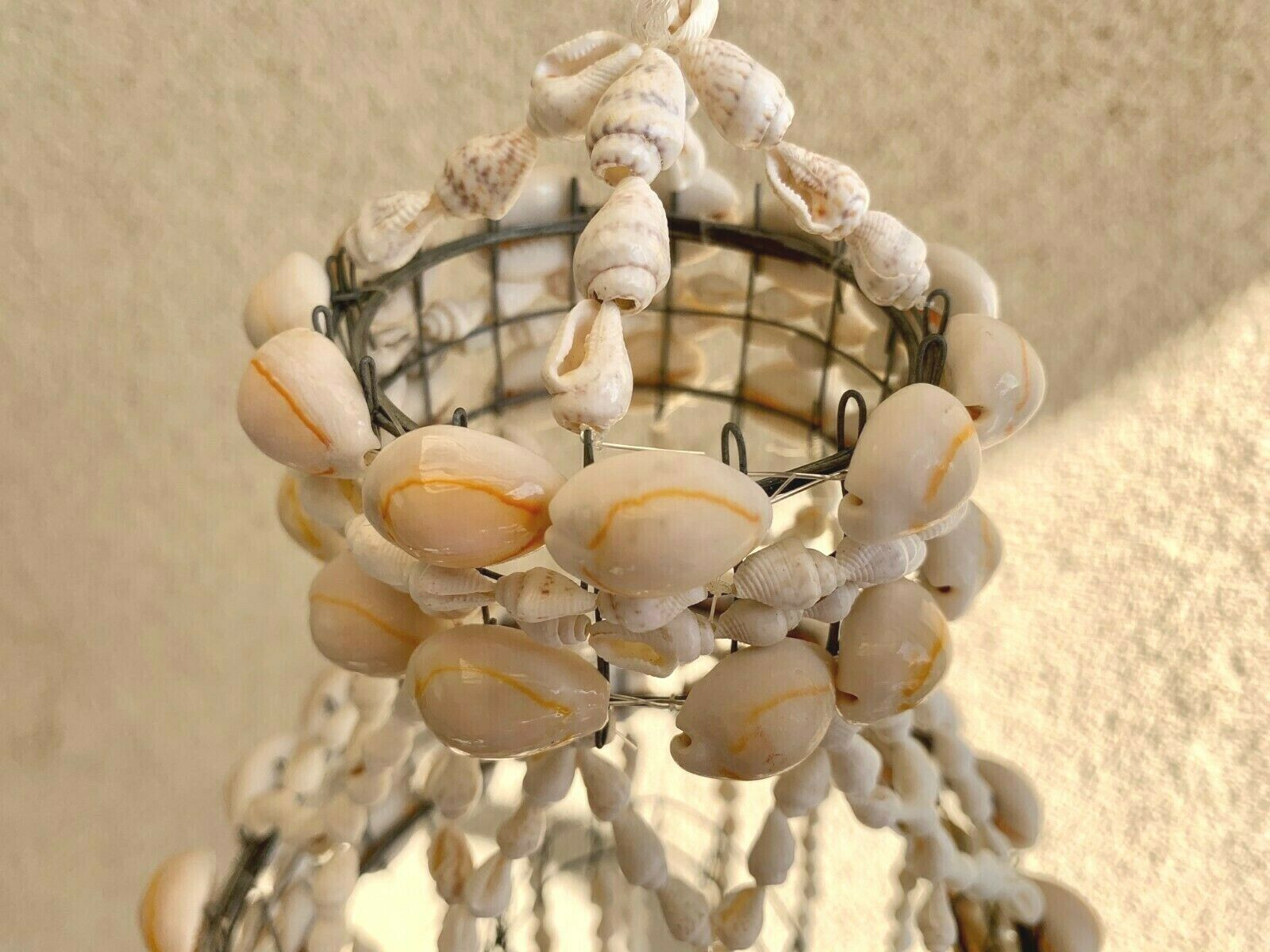 White Sea Shell Wind Chime Hanging Ornament Wall Decoration-Handmade in Taiwan