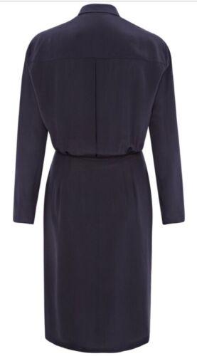 36 Uk Silk Free Belt Dress Blue Detail Hulme 8 S Navy Fr Sophie Shirt Chain It40 wX8ZPBnqx