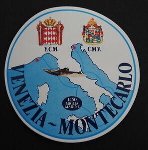 Fan-Aufkleber Venezia-Monte Carlo 1450 Miglia Navy Powerboat Race 70er