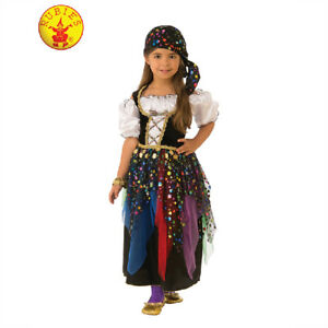 1564143f34 Details about Gypsy Girl Fortune Teller Astrologer Halloween Costume Fancy  Dress M/L Colourful