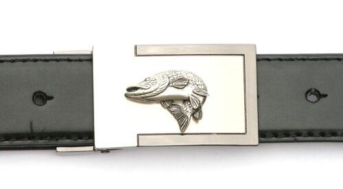 Pike tournant ceinture à boucle et ceinture en cuir en boîte cadeau grossier pêche cadeau