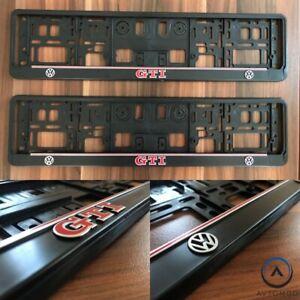 2x 3D Number Plate Surround Frame Holder Pair VW Volkswagen European Euro German Vehicle Parts & Accessories