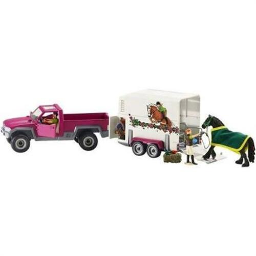 Schleich North America 240005 Horse Club Pick-Up with Horse Trailer