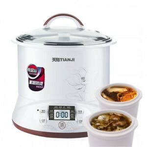 Bear Multi-functional Electric Steam Cooker with Natural Ceramics Pot  3L