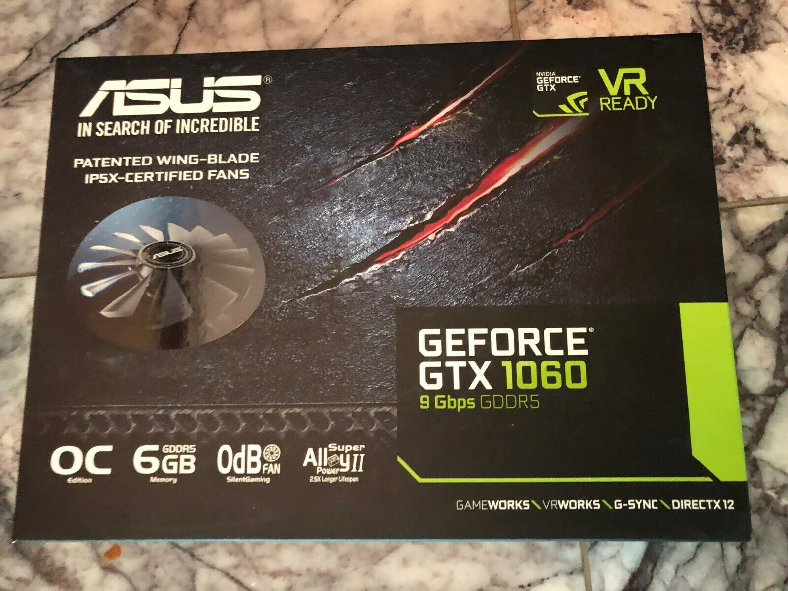 ASUS GeForce GTX 1060 6GB Dual-Fan OO6G GAMING VR Ready