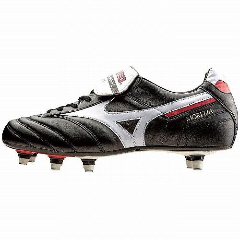 Zapatos de fútbol de Mizuno Spike Morelia 2 sistema integral P1GC1501 Negro X blancoo