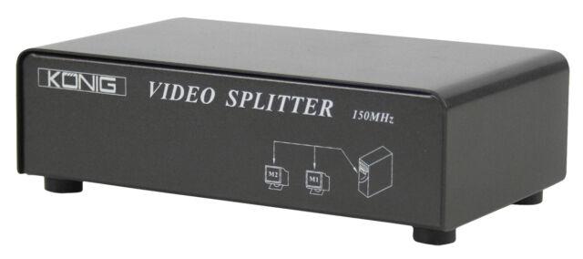 REPARTITEUR SPLITTER VGA 2 PORTS AUTOMATIQUE 2 ECRANS MONITEURS 1 ORDINATEUR PC