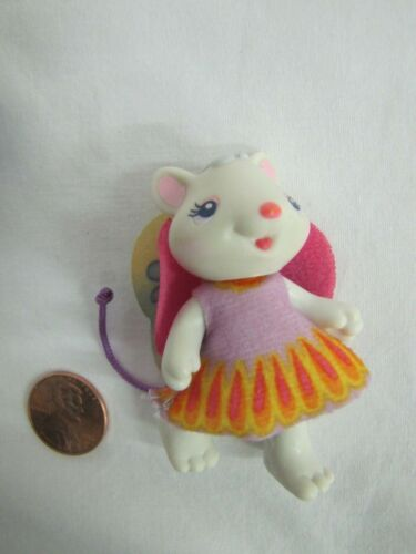 FISHER PRICE Hideaway Hollow MOUSE FIGURE GIRL MOM in FABRIC DRESS #3 Rare Wings