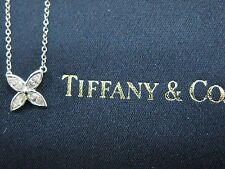 Tiffany & Co Platinum Victoria Marquise Diamond Pendant Necklace 0.25CT