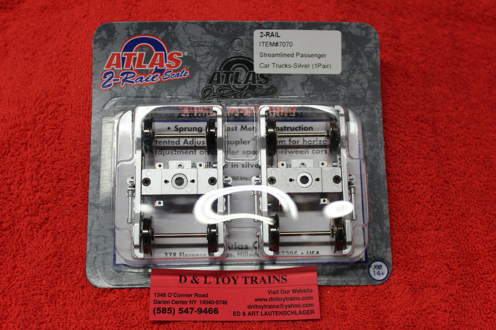 7070 Atlas o 2 camiones de coche Pasajeros Ferrocarril optimizada argento Nuevo en Caja
