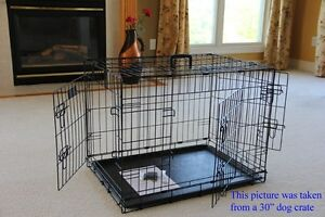 EliteField-3-Door-Folding-Dog-Crate-Cage-Kennel-w-RUBBER-FEET-5-Sizes-10-Models