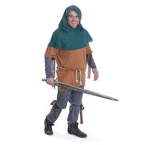 Mens-Little-John-Costume-Robin-Hood-Medieval-Fancy-Dress-Outfit