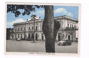 aversa-caserta-ESTERNO-STAZIONE-FERROVIE-DELLO-STATO-ANIMATA-1954