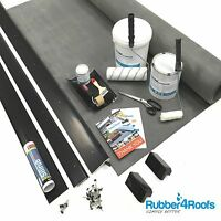 Epdm Rubber Roof Kit For Flat Porch Roofs All Sizes Available - 50 Year Life