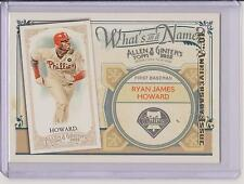 2015 ALLEN & GINTER RYAN JAMES HOWARD 10TH ANNIVERSARY CARD ~ 2012 #WIN3