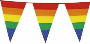 Bunting-Rainbow-Gay-Pride-10M-20-Flags-LGBT-32Ft-Parade-Lesbian-Flag-UK-Festival