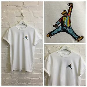 d326e41d29b5 Actual Fact Biggie x Jordan Slam Dunk Embroidered Hip Hop White Tee ...