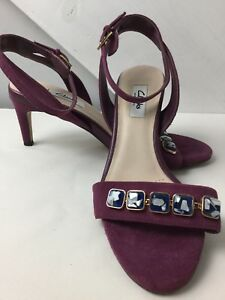Chaussures Peep Deep Mauve Condition Taille 6d Toe Suede Strappy Exc Clarks wSIXxTqw