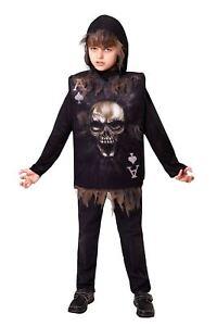 CréAtif Squelette Garçon Tabard Capuche, Taille Unique, Halloween, Les Garçons (ou Filles!) Fancy Dress-afficher Le Titre D'origine En Quantité LimitéE