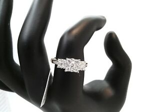 WOW-1CTTW-3-Stone-REAL-Diamond-Engagement-Ring-7500-14K-GOLD-NO-RESERVE